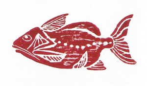 Egyptian Fish Maroon by HY